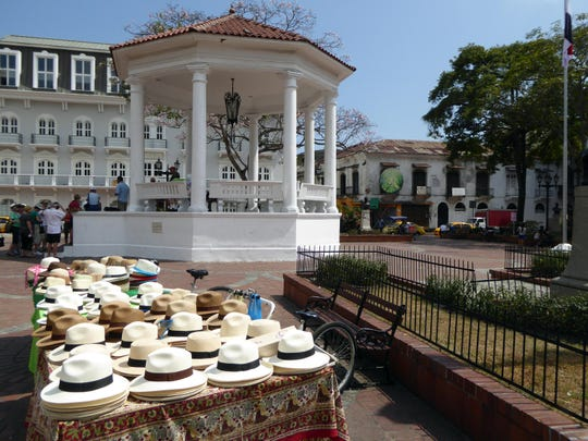 Panama hats are, of course, everywhere to be found in the country that spawned them.