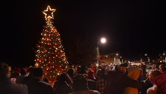 A crowd of 300 people watched as the village Christmas tree at Harbor View Park is lit during last year's Holly Days in Egg Harbor.