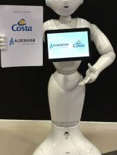 Pepper, the robot greeter Costa Cruises will be debuting on its ships in Spring 2016.