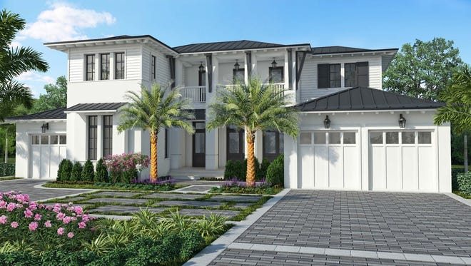 The Cloverdale by London Bay Homes in The Moorings offers southern exposure views and 5,110 square feet of living space.