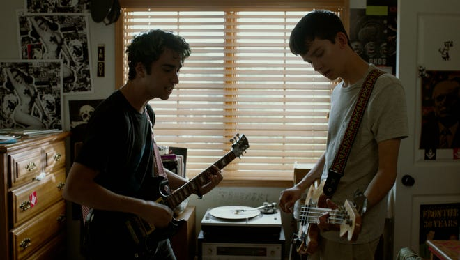 "Alex Wolff (right) and Asa Butterfield in ""The House of Tomorrow."""