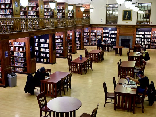 The reading room is shown Thursday, Feb. 18, 2016,