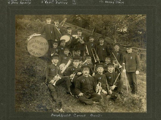 The Northfield Cornet Band seen in 1917. They often played at Dog River Valley Fair.