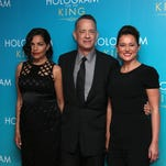 Actor Tom Hanks poses for photographers upon arrival at the premiere of the film 'A Hologram For The King' in London on Monday, April 25, 2016.