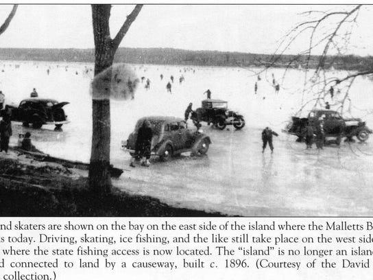 Skating off Coates Island 1930's 003