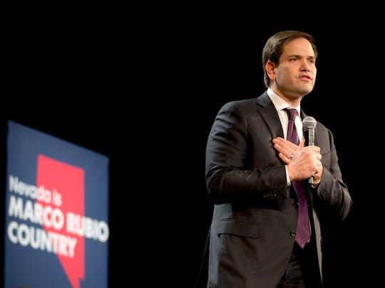 Republican presidential candidate Marco Rubio, R-Fla.,