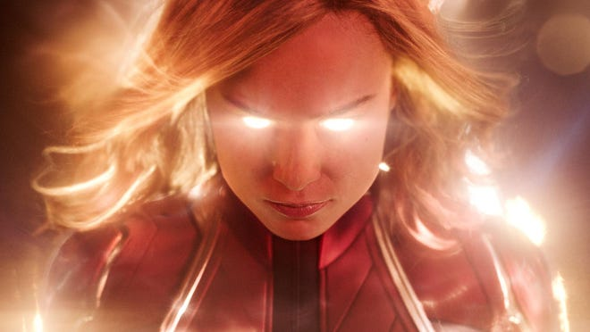 """This image released by Disney-Marvel Studios shows Brie Larson in a scene from """"Captain Marvel."""""""