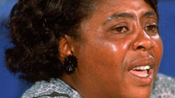 Fannie Lou Hamer speaks to the Credentials Committee at the 1964 Democratic National Convention.