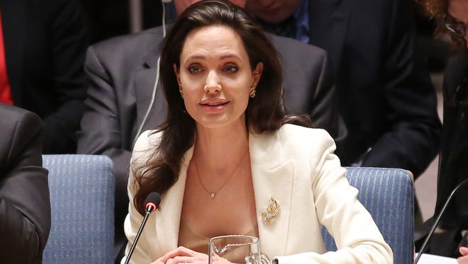Refugee advocate Angelina Jolie addressed the UN Security Council on Syria, April 24,