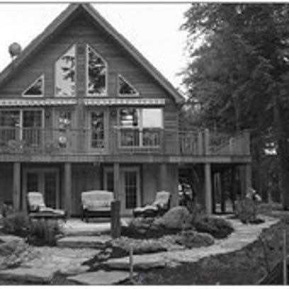 Pictured is a Cape Chalet with Western Red Cedar Lap