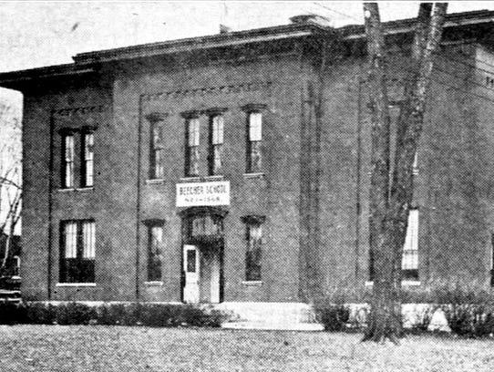 The original building for Elmira's Thomas K. Beecher