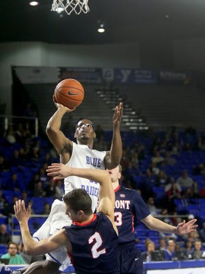 MTSU's Edward Simpson (11) has come along this season as one of the Blue Raiders most valuable weapons from the bench.