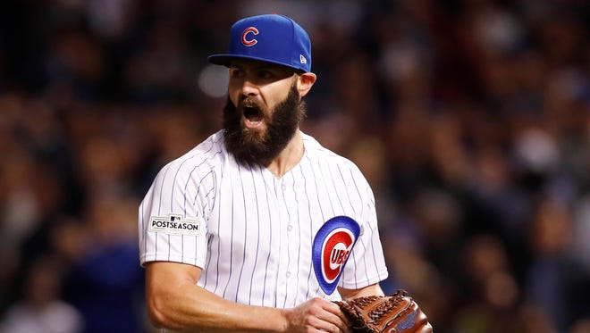 Jake Arrieta went 54-24 with a 2.71 ERA the last three seasons with the Cubs.