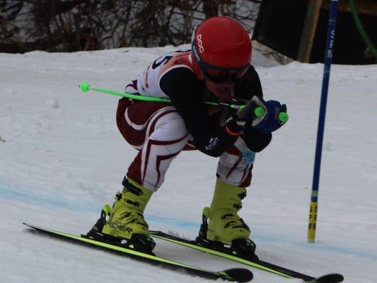Milford senior Morgan Watts won the giant slalom and