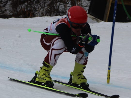 Milford senior Morgan Watts won the giant slalom and placed second in the slalom at Thursday's Alpine Valley Division 1 regional ski meet.