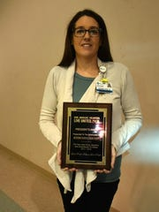 Shanna Thomas-President's Award to Methodist Hospital