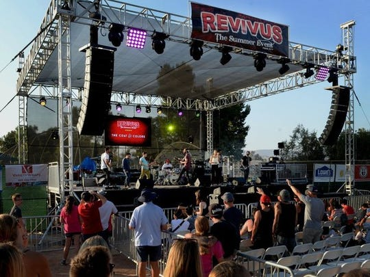 The Coat & Colors perform at Revivus: The Summer Event on Saturday at Rancho Simi Community Park. The event is attended by nearly 4,000 people each year in Simi Valley.