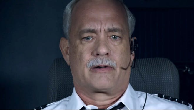 """Tom Hanks as Chesley 'Sully' Sullenberger in """"Sully.""""  The film opens Thursday at Regal West Manchester Stadium 13, Frank Theatres Queensgate Stadium 13 and R/C Hanover Movies."""
