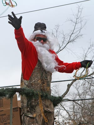 The annual Bawcomville Redneck Christmas parade rolls through the streets of Bawcomville last year.
