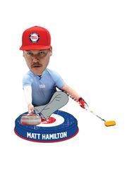 American Curler Matt Hamilton bobblehead