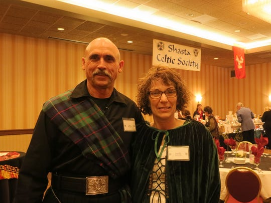 John and Jonette Edwards of Redding attend the Shasta Celtic Society's 20th annual Burn's Night Supper on Jan. 21 at the Red Lion Inn in Redding.