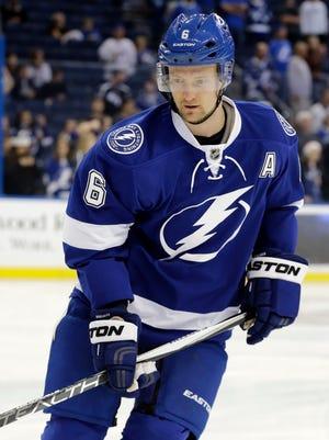 Tampa Bay Lightning defenseman Anton Stralman.