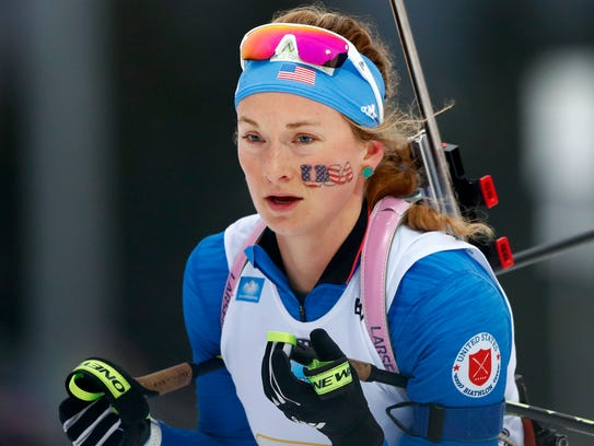 Emily Dreissigacker of the U.S. competes during the