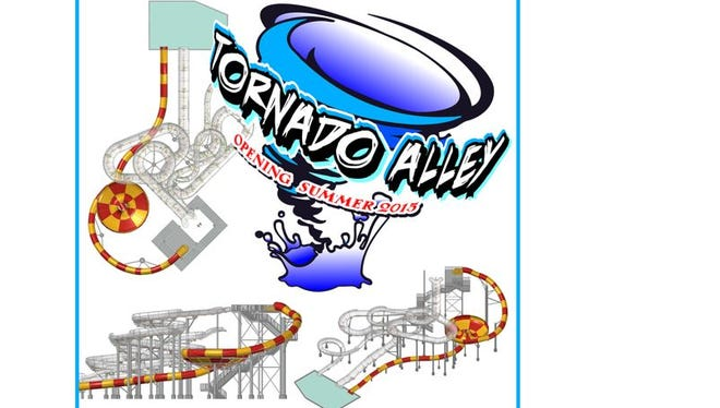 The new Tornado Alley slide at Wild Water West