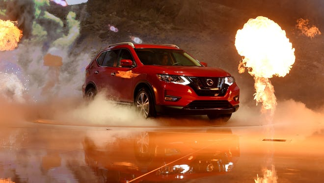 Nissan Rogue is displayed during media preview days ahead of the public opening of the Los Angeles Auto Show, in Los Angeles, California, November 16, 2016. The LA Auto Shows consumer days will be open to the public,
