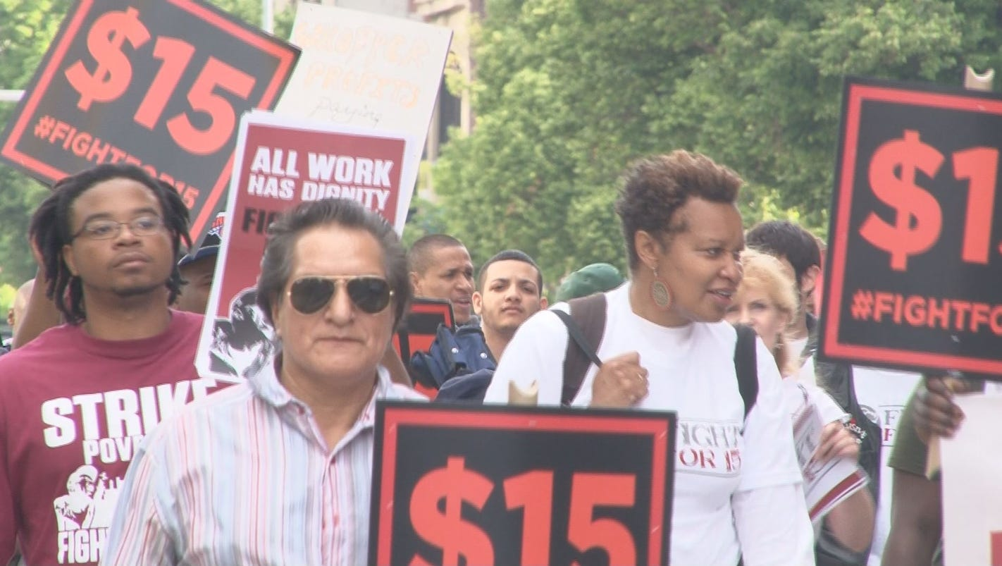 Fast Food Workers Want  An Hour