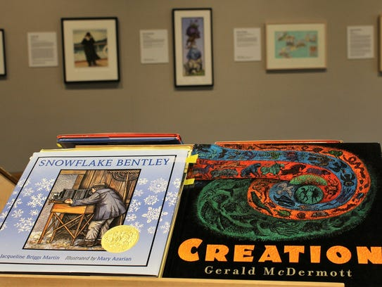 Storybooks illustrated by exhibiting artists over a