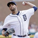 Detroit Tigers pitcher David Price delivers against the Seattle Mariners during the first inning of a baseball game Thursday, July 23 in Detroit.