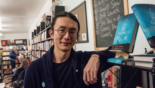"""Detroit author Jack Cheng celebrated the release  of his new book """"See You in the Cosmos"""" at Pages Bookshop in Detroit on  Feb. 28, 2017."""