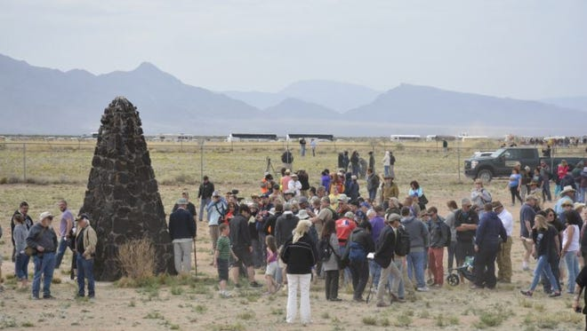 Visitors to the Trinity Site will see the location where the world's first atomic bomb was detonated.