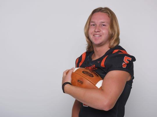 Washington High School's Nate Freese during football