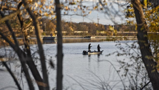 Anglers try their luck Wednesday, Nov. 2, on the Mississippi River just above the Sartell dam. The 70th Annual Minnesota Governor's Fishing Opener May 11-14 will include this section of the river.