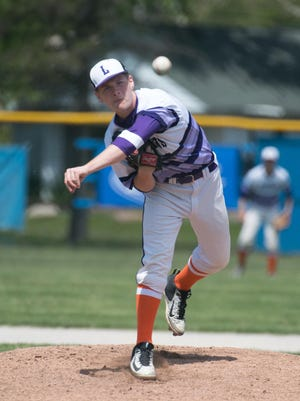 Lakeview pitcher Tyler Brown (20).