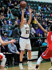 Wylie guard Lauren Fulenwider (25) takes a 3-pointer
