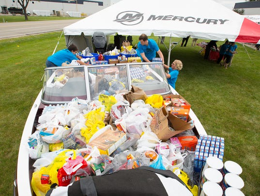 pantry receives boatload of donations literally