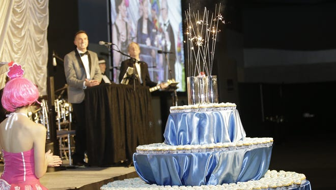 Birthday Candles and Birthday Cupcakes to help celebrate Covington's 200th birthday at the Northern Kentucky Convention Center, Saturday.