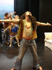 "Brendan Maly as Berger in the Players Guild of Leonia production of ""Hair"""