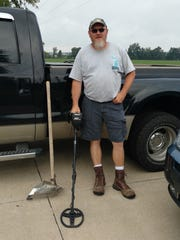 Metal-detecting is Bruce Sinclair's passion.