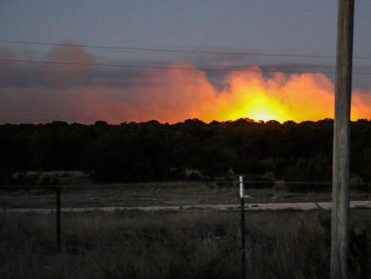 Grass fire north of Eldorado Wednesday, Jan. 24, 2018