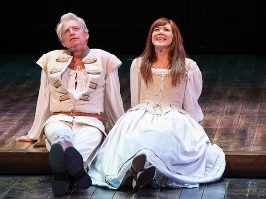 Ben Livingston plays Benedick and Kim Martin-Cotton