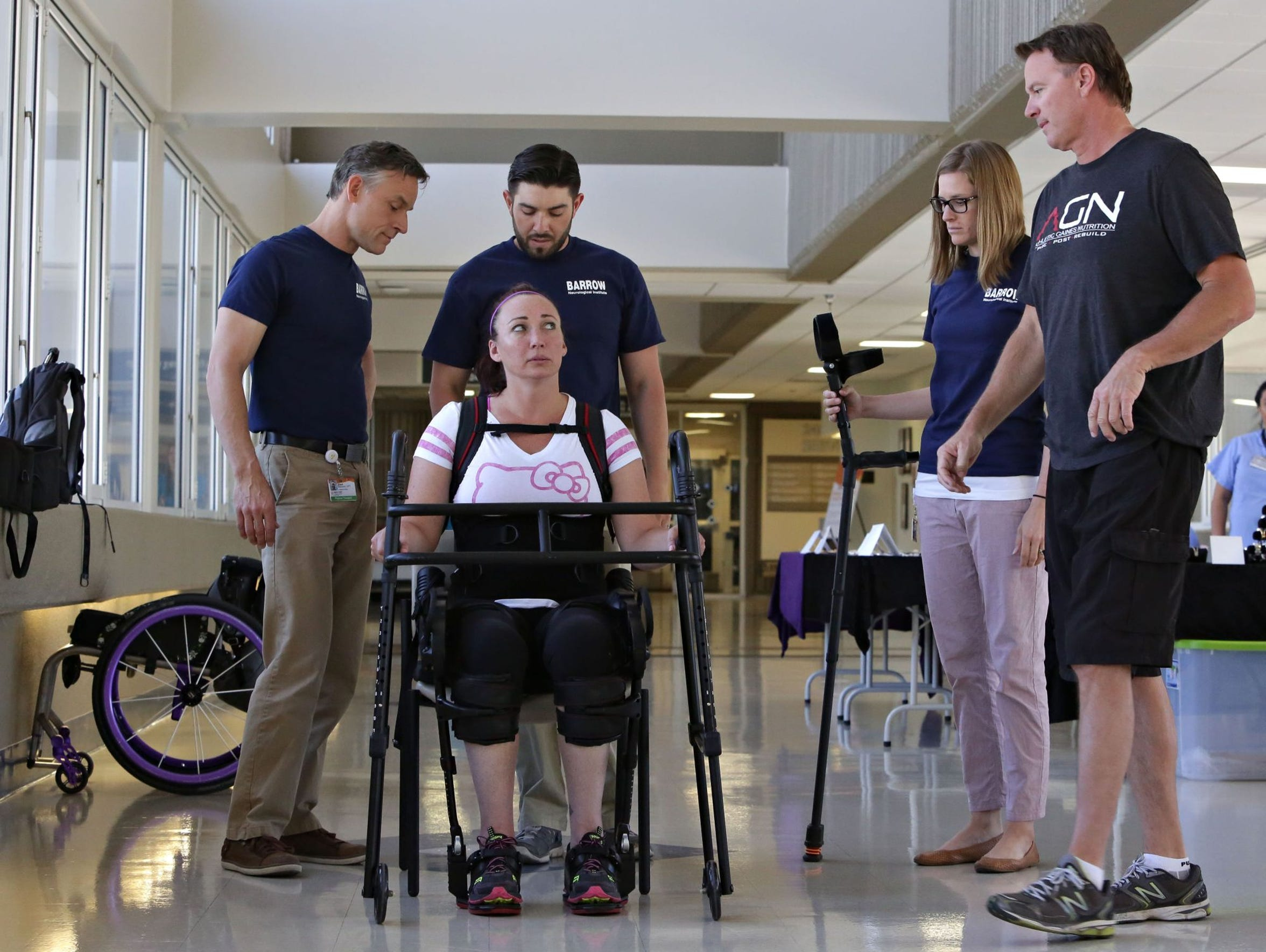 An army of support: Amy Van Dyken-Rouen at Walking