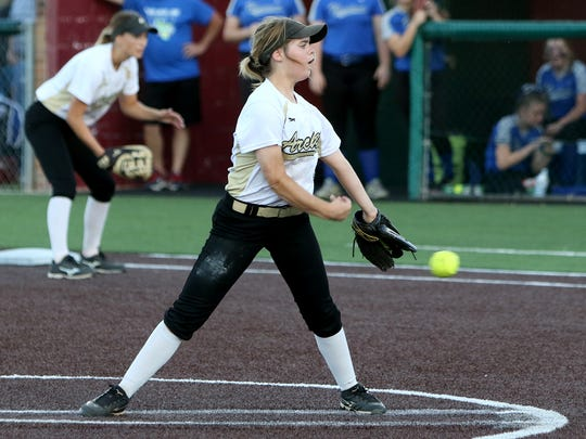 Archer City's Victoria Rater was put in a big situation Saturday and answered the call, shutting down Windthorst's bats in a 12-6 victory.