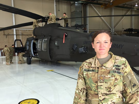 Maj. Bonnie Belobrajdic, the operations officer for