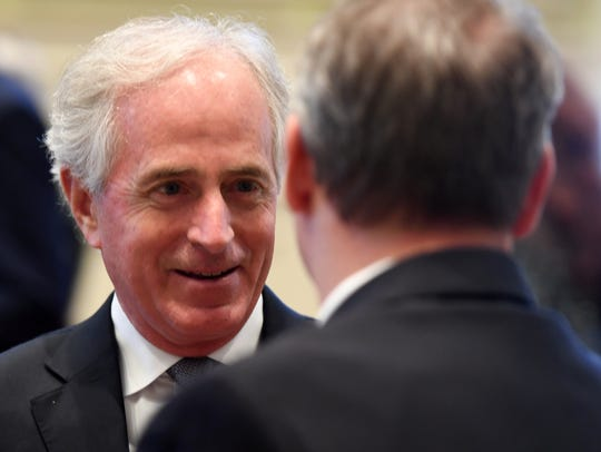Senator Bob Corker answered questions from members
