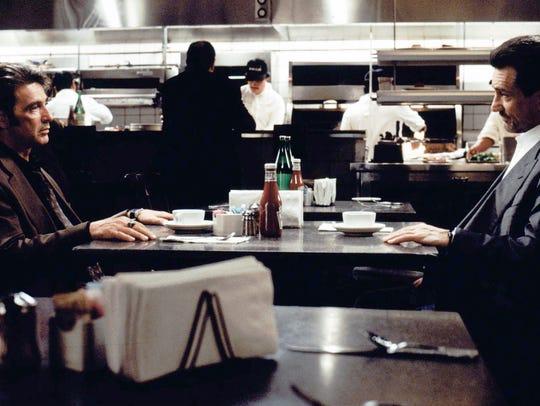 Acting greats Robert De Niro (right) and Al Pacino