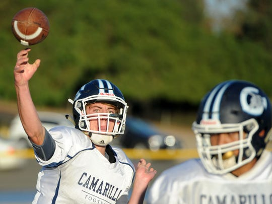 After a breakout season in 2017, quarterback James McNamara will be leading the offense again for Camarillo High.